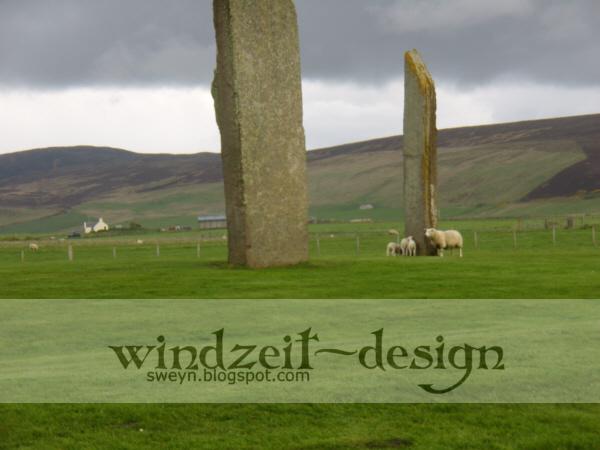 Schafe Standing Stones, Orkney